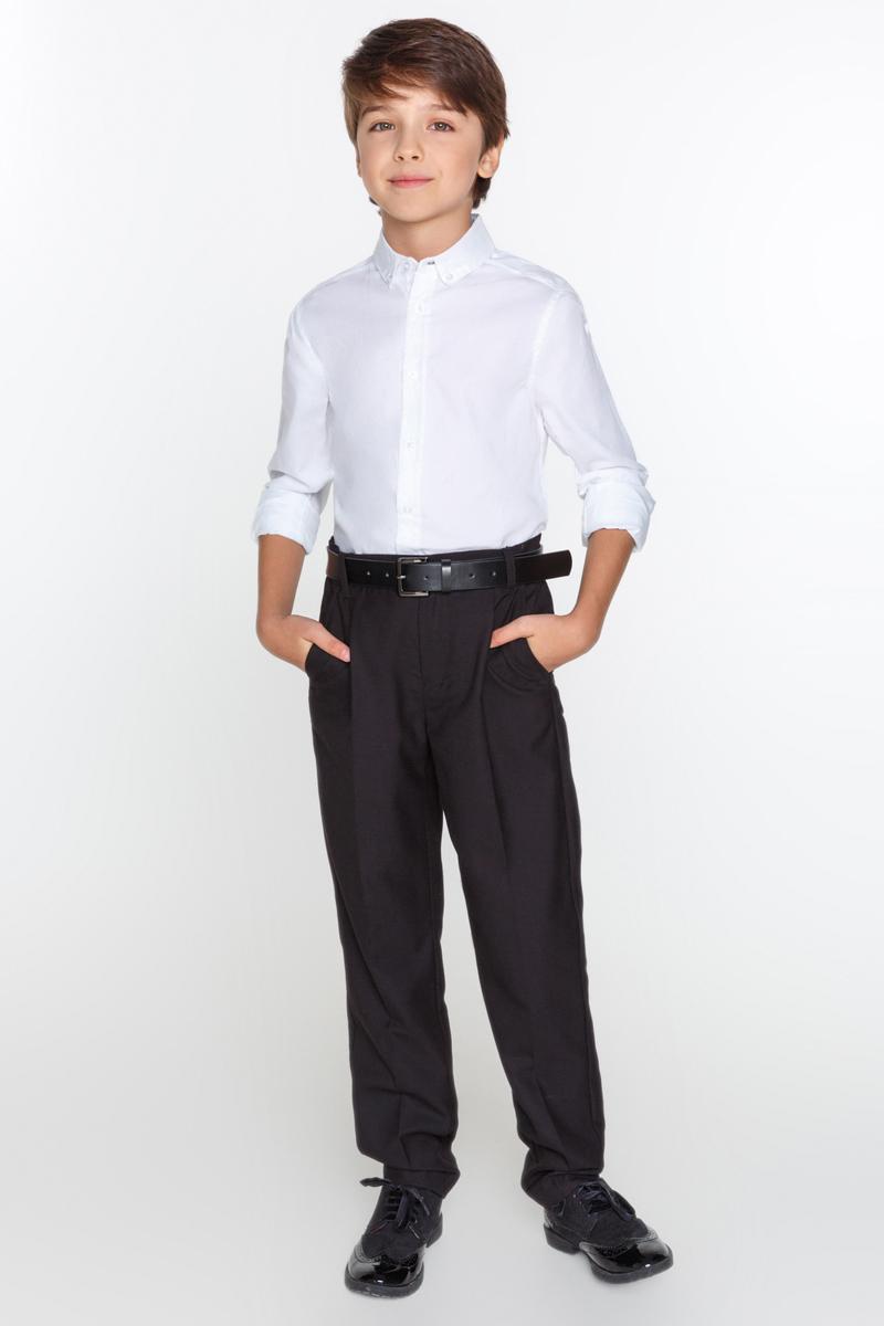 Рубашка для мальчика Acoola Lead, цвет: белый. 20140280014_200. Размер 16420140280014_200Рубашка Acoola Lead классического кроя выполнена из хлопковой фактурной ткани. Модель с классическим отложным воротником на пуговицах и длинными рукавами с манжетами на пуговицах.