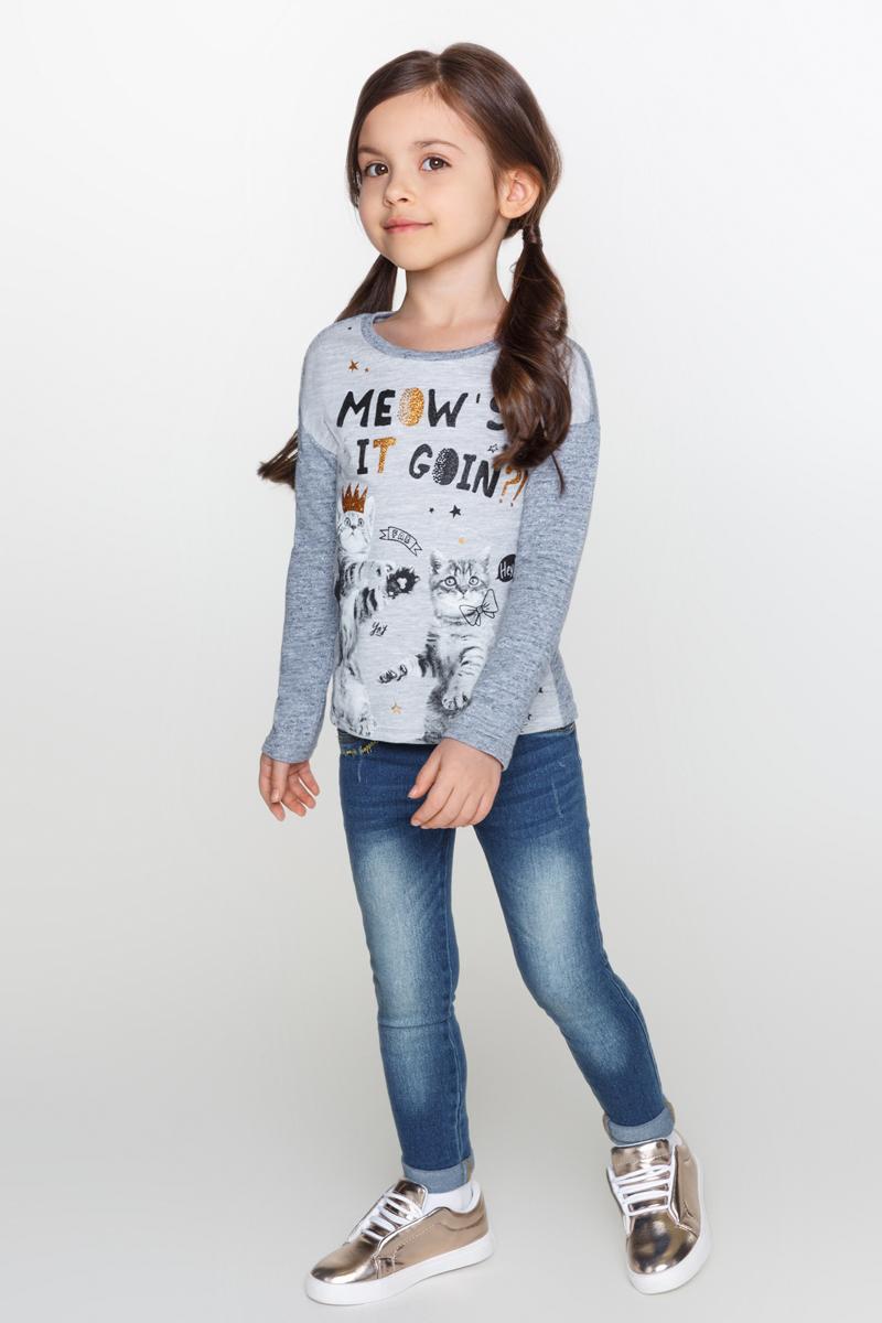 Джемпер для девочки Acoola Lopez, цвет: серый. 20220100101_4400. Размер 128 acoola для девочки muse серый