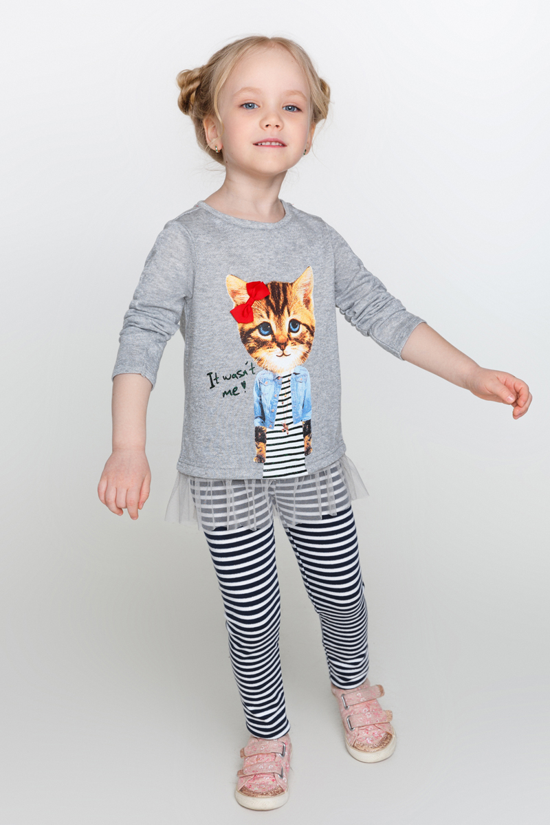 Джемпер для девочки Acoola Kaas, цвет: серый. 20220200180_1900. Размер 128 acoola для девочки muse серый