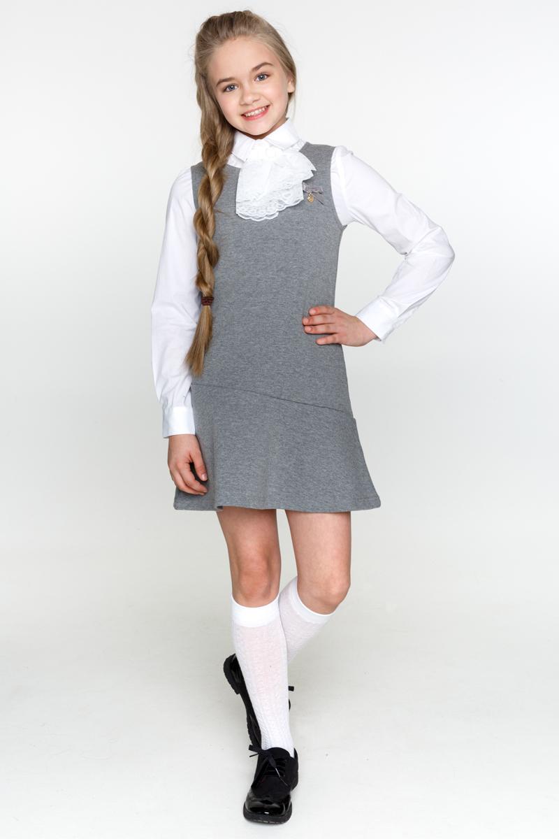 Сарафан для девочки Acoola Gal 1, цвет: серый. 20240200011_1900. Размер 158 acoola для девочки muse серый