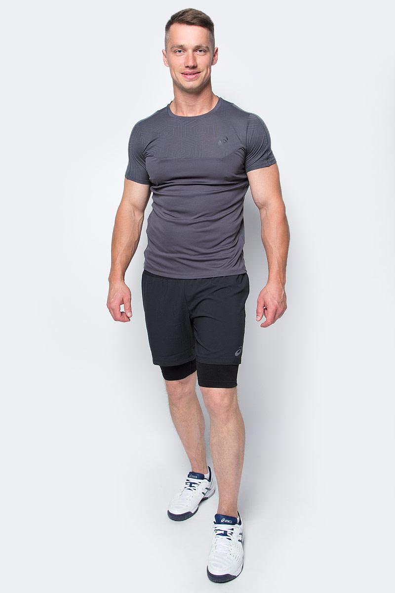 Шорты для бега мужские Asics 2-N-1 Short, цвет: черный. 141245-0904. Размер L (50/52)141245-0904Мужские шорты Asics 2-N-1 Short, станут отличным дополнением к вашему спортивному гардеробу. Они выполнены из полиэстера, удобно сидят и превосходно отводят влагу от тела, оставляя кожу сухой. Модель дополнена эластичной резинкой на поясе. Эти модные шорты идеально подойдут для бега и других спортивных упражнений. В них вы всегда будете чувствовать себя уверенно и комфортно.