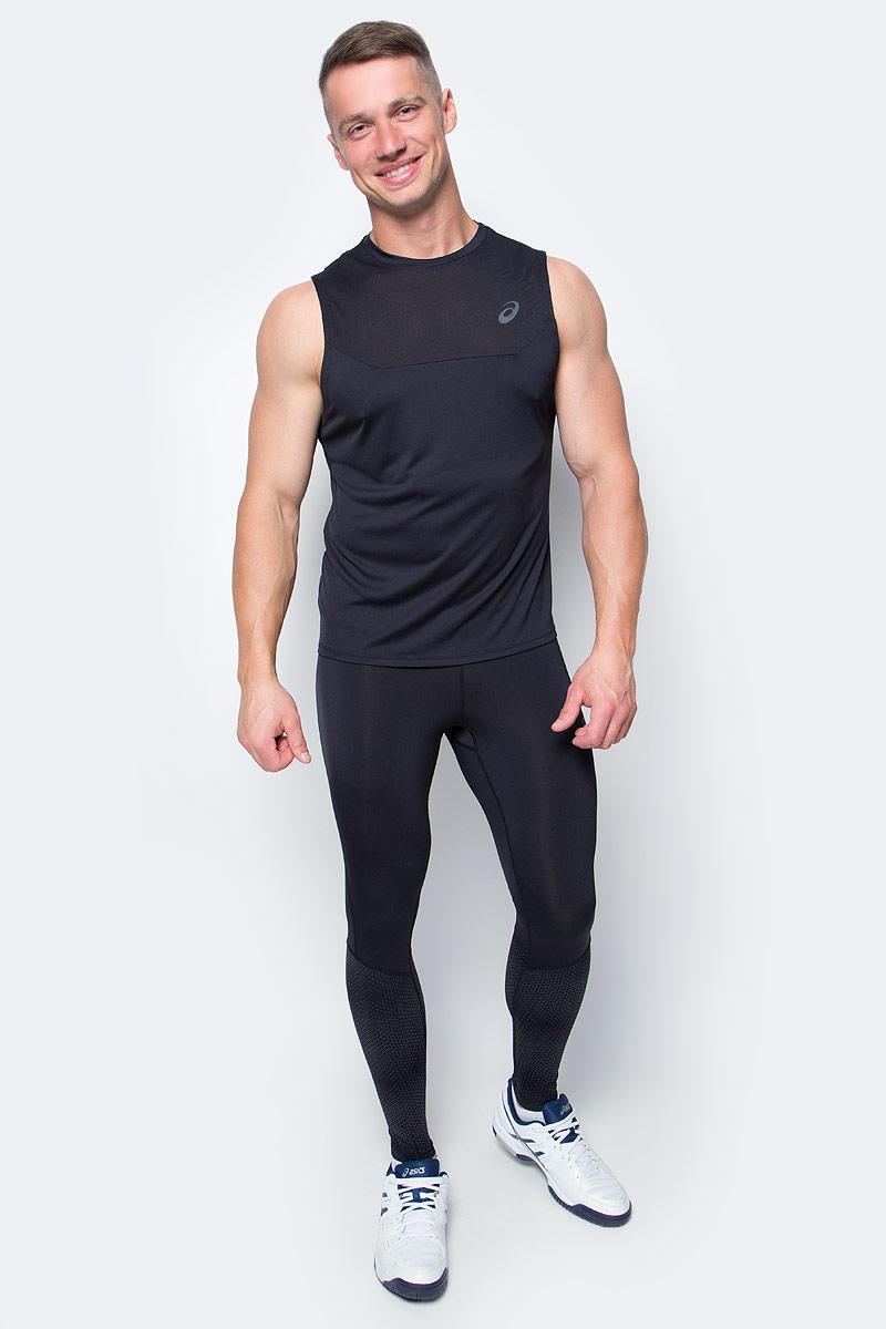 Майка для фитнеса мужская Asics Ventilation Vest, цвет: черный. 141817-0904. Размер L (50/52)141817-0904Стильная майка для фитнеса Asics Ventilation Vest с вентиляцией избавит вас от духоты, пота и дискомфорта, с которыми часто ассоциируется посещение спортзала. Она сшита с использованием технологии ASICS MotionDry, благодаря которой ткань эффективно впитывает пот, позволяя вам оставаться сухим. Модель выполнена из качественного полиэстера.Майка без рукавов и с круглым вырезом горловины оформлена сетчатыми вставками спереди и сзади, которые обеспечат вам дополнительную вентиляцию, сделают ваши тренировки более комфортными и позволят сфокусироваться на результате.