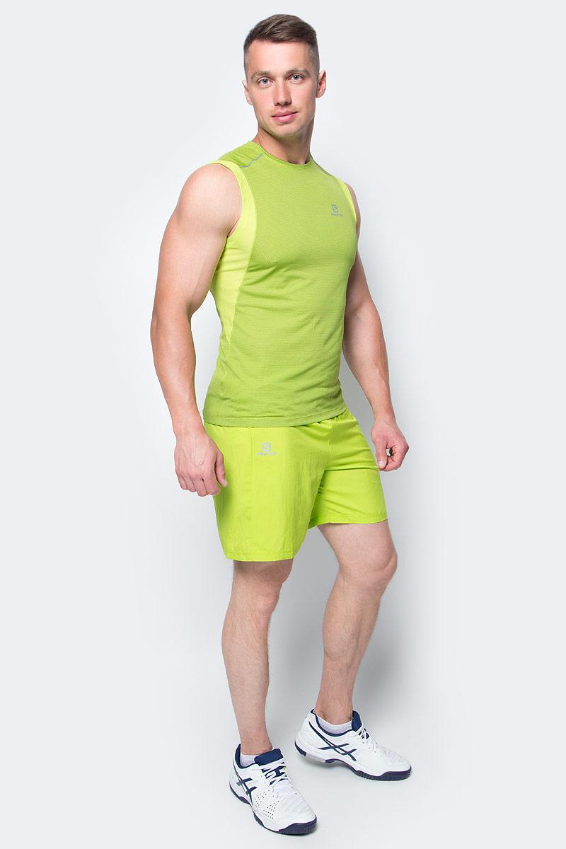 Шорты для бега мужские Salomon Trail Runner Short, цвет: салатовый. L39385800. Размер M (48/50)L39385800Свободные легкие беговые шорты для мужчин Trail Runner изготовлены из качественного полиэстера. Шорты с удобными карманами в задней части пояса идеально подходят для занятий различными видами спорта в любое время года.