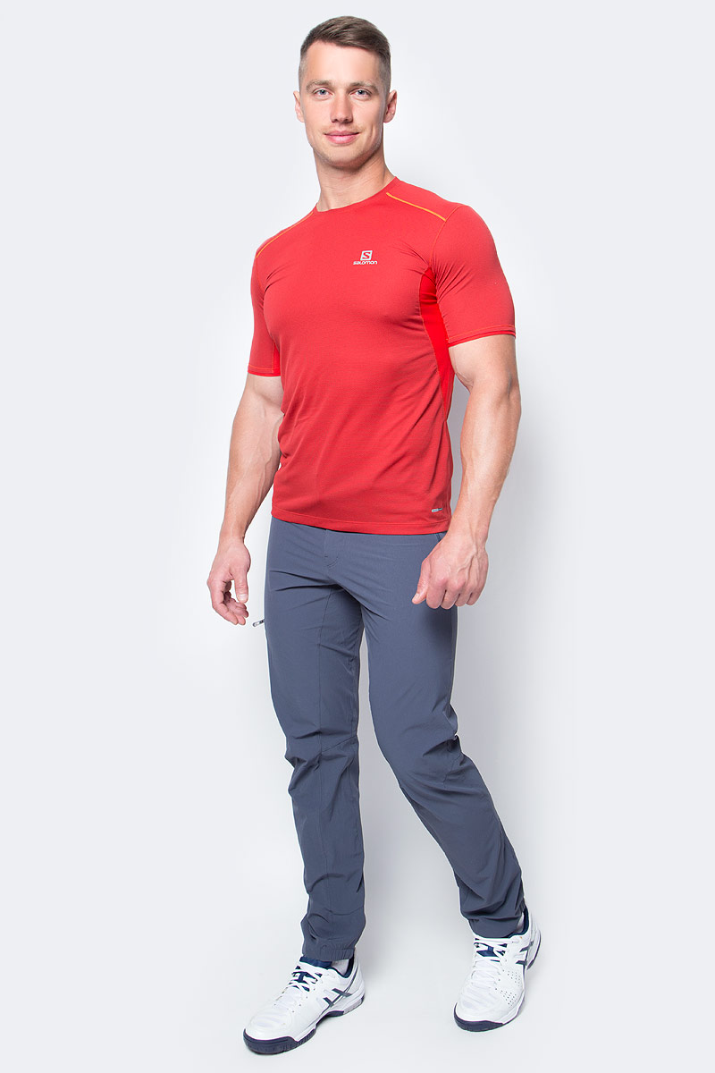 Брюки туристические мужские Salomon Wayfarer Incline Pant, цвет: серый. L39323100. Размер (46)L39323100Мужские брюки Wayfarer Incline, выполненные в стиле моделей для горных походов, изготовлены из растягивающейся в четырех направлениях ткани и повторяют все ваши движения. Регулируемый пояс, усиленная кромка, натягивающаяся на ботинки, и карманы для рук на молнии.