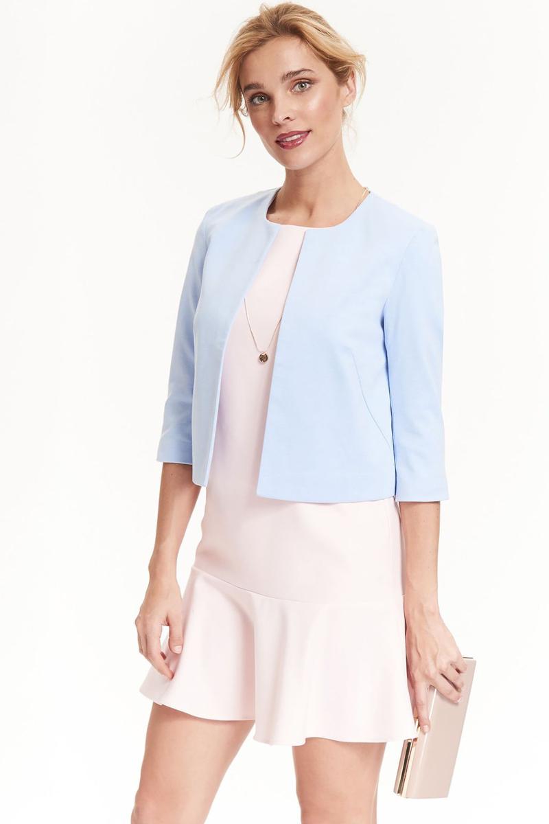 Платье Top Secret, цвет: светло-розовый. SSU1897JR. Размер 40 (48)SSU1897JRПлатье Top Secret изготовлено из полиэстера с добавлением вискозы и эластана. Модель с круглым вырезом горловины застегивается по спинке на молнию. Низ платья декорирован оборкой.