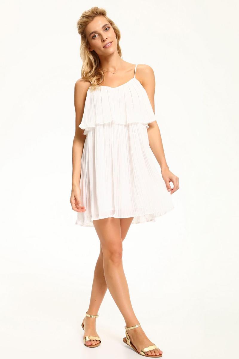 Платье Top Secret, цвет: белый. SSU1907BI. Размер 36 (44)SSU1907BIПлатье Top Secret изготовлено из полиэстера. Модель имеет тонкие бретельки, регулируемые по длине.