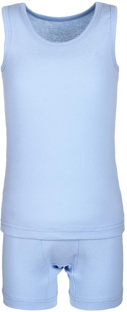 Комплект одежды для мальчика M&D, цвет: голубой. КП120910. Размер 116КП120910Комплект M&D подарит не только комфорт и уют, но и понравится ребенку благодаря своему веселому и приятному дизайну. Изготовленный из эластичного хлопка, он тактильно приятный, хорошо пропускает воздух, а благодаря свободному крою не стесняет движений. Майка с круглым вырезом горловины и без рукавов имеет однотонный цвет. Шорты имеют широкую эластичную резинку, благодаря чему они не сдавливают животик ребенка и не сползают.