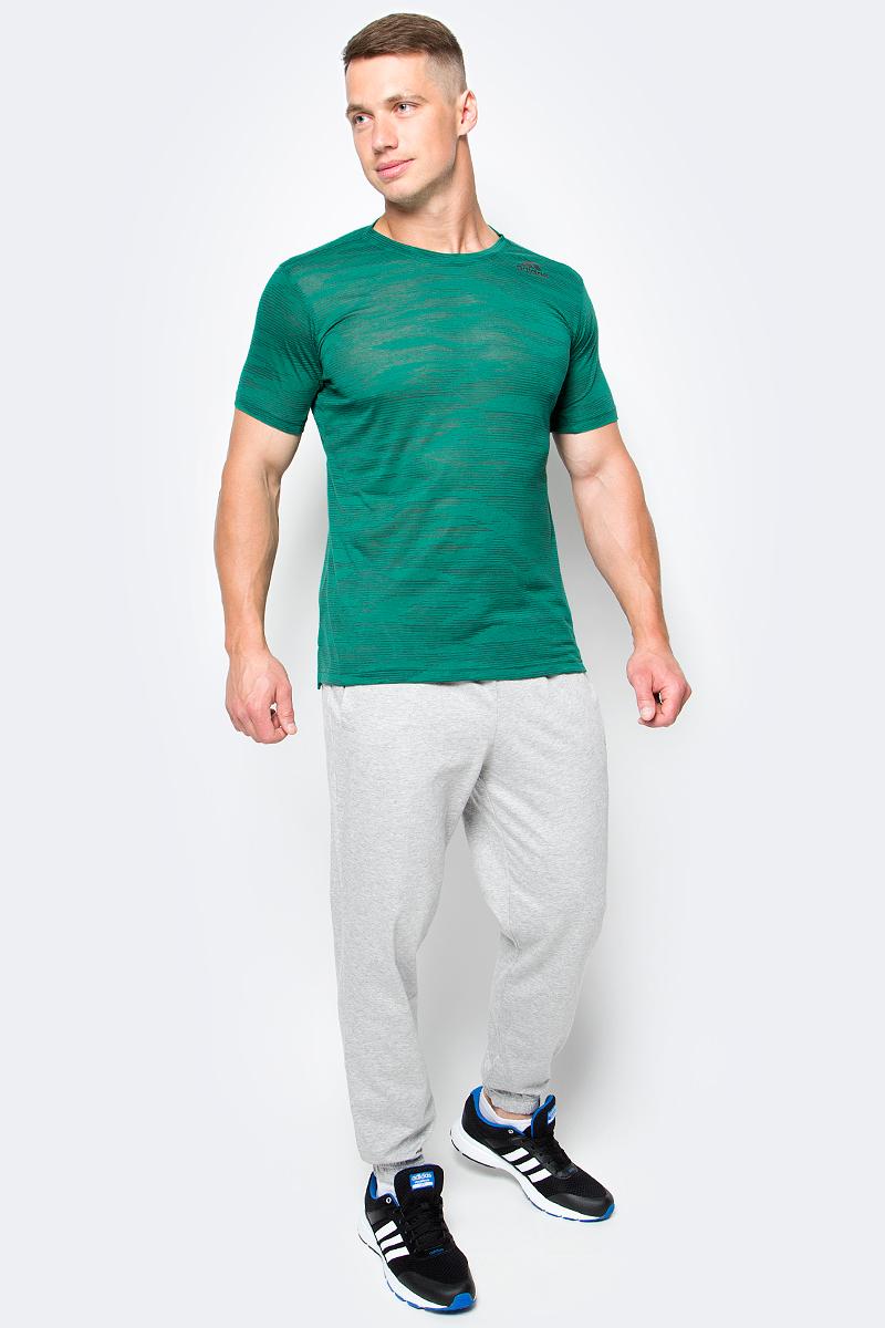 Футболка мужская Adidas Freelift Ak, цвет: зеленый. BK6105. Размер L (52/54)BK6105Мужская футболка для тренировок с технологией climacool, способствующей быстрому выведению влаги с поверхности тела.