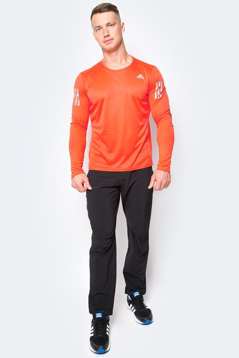 Лонгслив для бега мужской adidas Rs Ls Tee, цвет: оранжевый. BP7485. Размер S (44/46)BP7485Лонгслив для бега Adidas Rs Ls Tee изготовлен из полиэстера и полиэфира. У модели круглый ворот и длинные рукава с прорезями для больших пальцев. Модель дополнена светоотражающими полосами на рукавах.