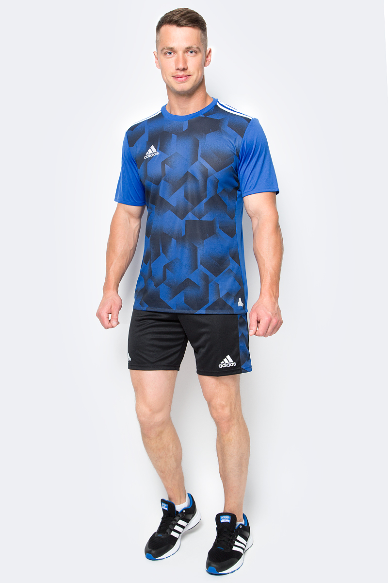 Футболка мужская adidas Tanc Grajsy, цвет: голубой. BK3757. Размер L (52/54)BK3757Мужская футболка adidas Tanc Grajsy выполнена из 100% полиэстера. Модель с круглым вырезом горловины и короткими рукавами прекрасно подходит для интенсивных тренировок.