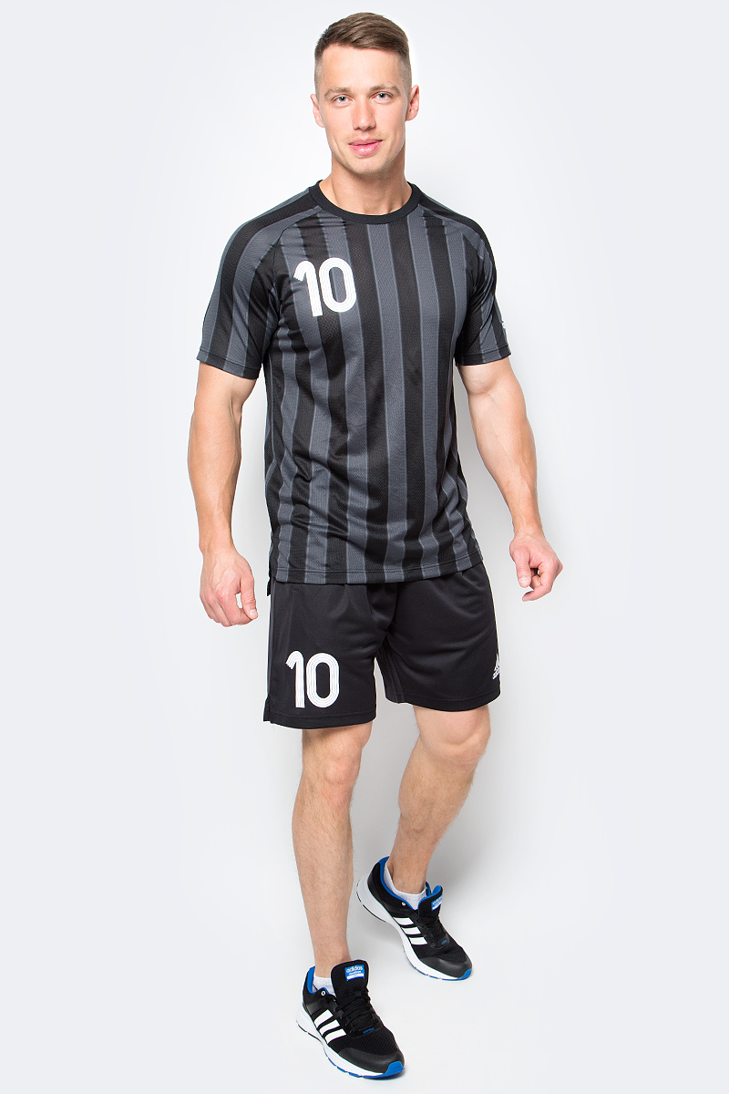 Футболка мужская adidas Tanip Cc Jsy, цвет: черный. AZ9713. Размер XS (40/42)AZ9713Футболка мужская adidas Tanip Cc Jsy выполнена из 100% полиэстера. Модель с круглым вырезом горловины и короткими рукавами. Прекрасно подходит для интенсивных тренировок.