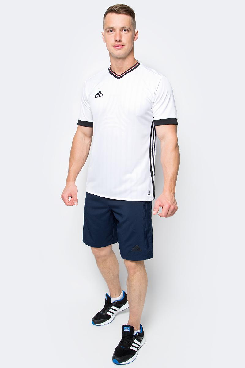 Футболка мужская adidas Tanc Jq Jsy, цвет: белый. AZ9741. Размер S (44/46)AZ9741Мужская футболка adidas Tanc Jq Jsy выполнена из 100% полиэстера. Прекрасно подходит для интенсивных тренировок.