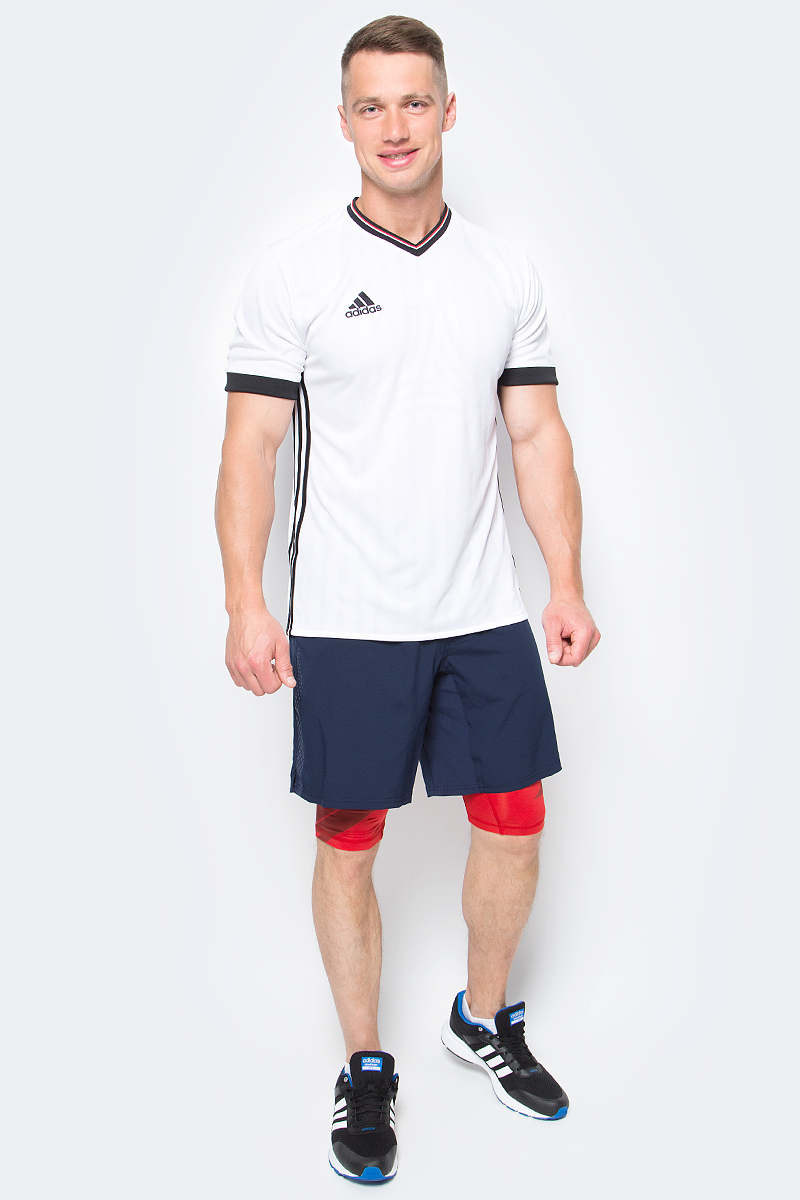 Шорты для фитнеса мужские adidas Crazytr Sh 2In1, цвет: синий. BK6162. Размер S (44/46)BK6162Мужские шорты adidas Crazytr Sh 2In1 сшиты из эластичной ткани, которая обеспечивает полную свободу движений во время приседаний и выпадов. Легкая модель дополнена внутренними шортами для повышенного комфорта и карманом на молнии для хранения полезных мелочей.