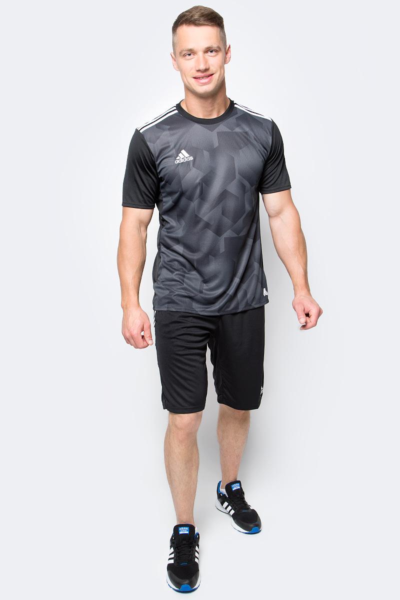 Футболка мужская adidas Tanc Grajsy, цвет: черный. S98659. Размер M (48/50)S98659Мужская футболка adidas Tanc Grajsy выполнена из 100% полиэстера. Прекрасно подходит для интенсивных тренировок.