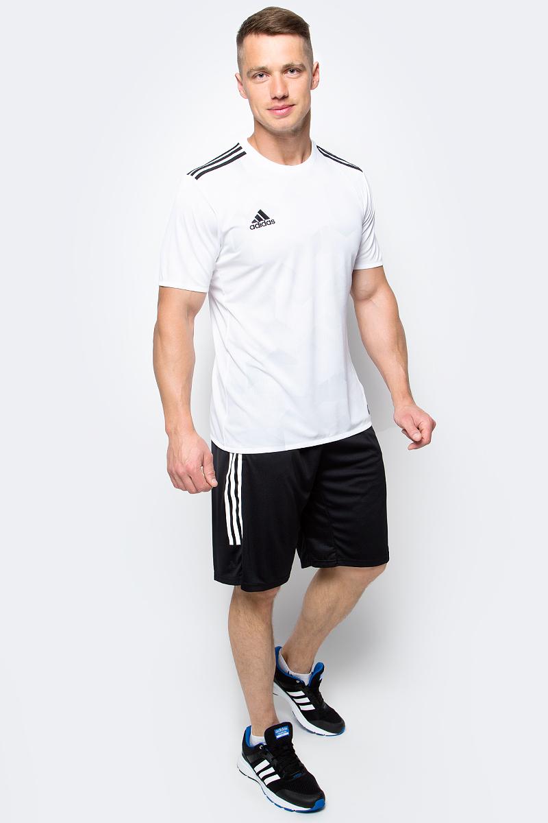 Футболка мужская adidas Tanc Grajsy, цвет: белый. BK3755. Размер L (52/54)BK3755Мужская футболка adidas Tanc Grajsy выполнена из 100% полиэстера. Модель с круглым вырезом горловины и короткими рукавами прекрасно подходит для интенсивных тренировок.