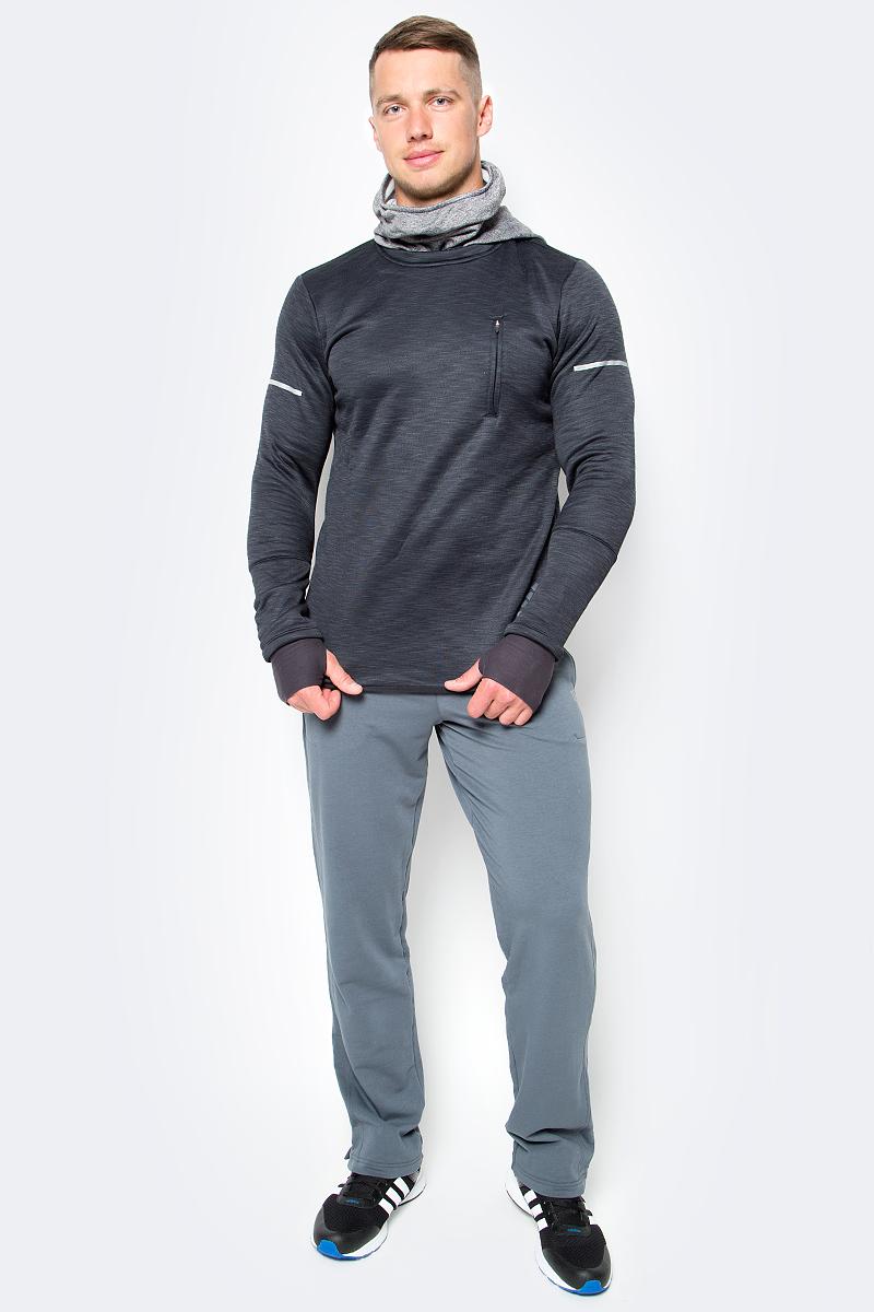 Толстовка для бега мужская adidas Sq Cht Hoodie M, цвет: черный. AP9727. Размер XL (56/58)AP9727Мужская толстовка для бега adidas Sq Cht Hoodie M выполнена из полиэстера и эластана. В этой беговой толстовке вы сможете комфортно тренироваться даже при отрицательной температуре. Утеплитель climaheat™ со свойствами натурального меха быстро сохнет и надежно сохраняет тепло без риска перегрева. Мягкий и эластичный флис сохраняет полную свободу движений во время бега, а регулируемая защитная маска и манжеты с отверстиями для больших пальцев обеспечивают дополнительный комфорт. Светоотражающие детали для безопасности в темное время суток.