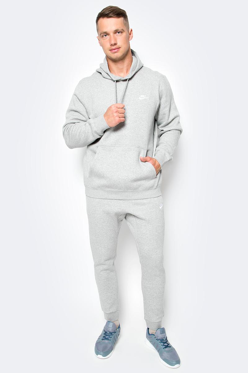 Толстовка мужская Nike Nshoodie Po Flc Club, цвет: серый. 804346-063. Размер XL (52/54)804346-063Мужская толстовка Nshoodie Po Flc Club от Nike выполнено из хлопка с добавлением полиэстера. С внутренней стороны модель имеет мягкий начес. Модель с капюшоном и длинными рукавами дополнена спереди карманом-кенгуру.