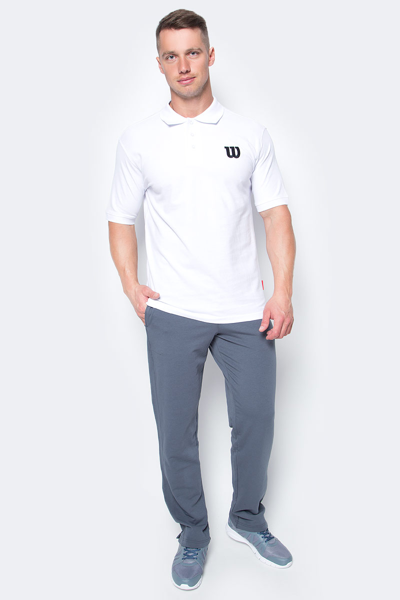 Поло для тенниса мужское Wilson Core Cotton W Polo, цвет: белый. WRA720607. Размер XXL (58)