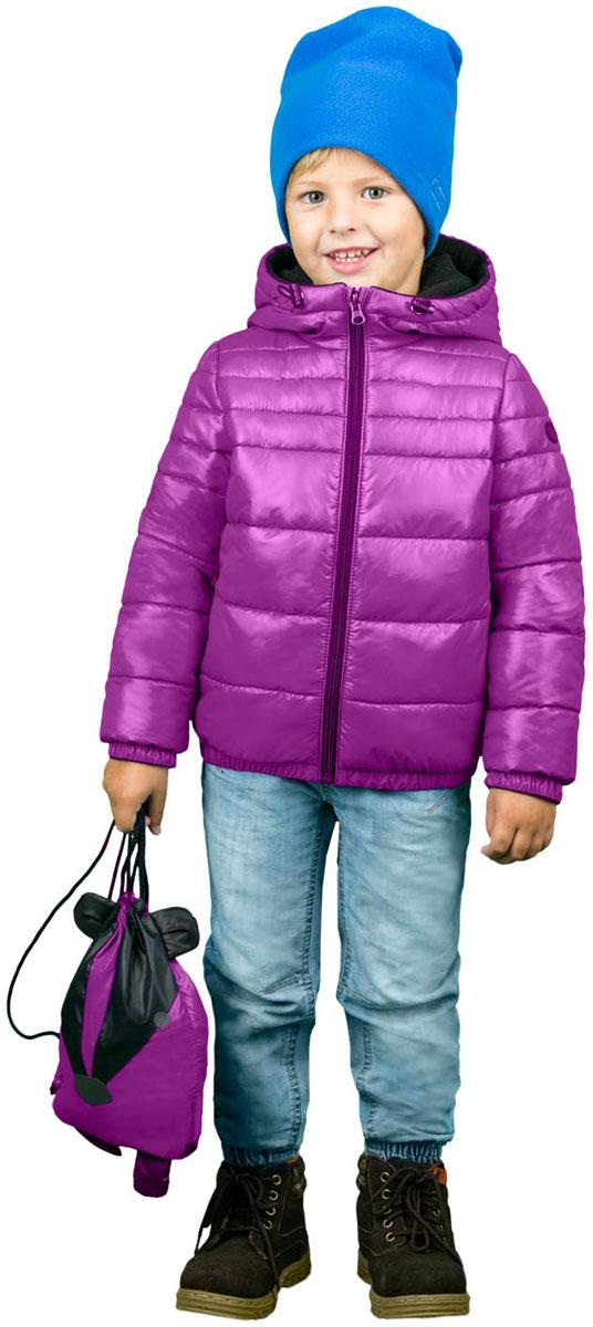 Куртка для мальчика Boom!, цвет: фуксия. 70468_BOU_вар.2. Размер 104, 3-4 года70468_BOU_вар.2Куртка для мальчика Boom! выполнена из полиэстера и дополнена мягкой и теплой подкладкой с добавлением флиса. Куртка застегивается на удобную застежку-молнию. Капюшон в объеме регулируется при помощи скрытого эластичного шнурка со стопперами. Рукава и низ изделия дополнены эластичной резинкой. По бокам куртка дополнена двумя кармашками.
