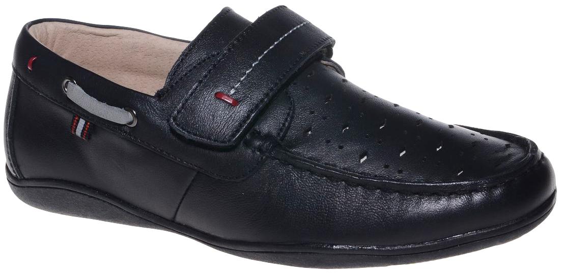 Мокасины для мальчика Счастливый ребенок, цвет: черный. G2002BLACK. Размер 33G2002_BLACKМокасины для мальчика Счастливый ребенок, выполненные из высококачественной искусственной кожи с перфорацией, на мысе оформлены декоративным внешним швом, свойственным для этого типа обуви. На подъеме модель фиксируется при помощи ремешка на липучке. Внутренний материал и стелька выполнены из натуральной кожи, что позволяет ногам дышать и обеспечивает дополнительный комфорт. Подошва, выполненная из ТЭП-материала, долговечна.