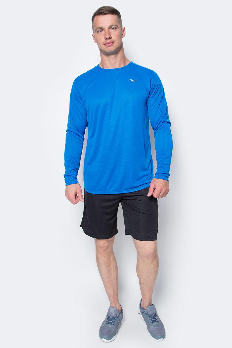 Лонгслив мужской для бега Saucony Hydralite Ls, цвет: голубой. SA81175-ARB. Размер XL (52/54)SA81175-ARBОтличная футболка Saucony Hydralite Ls для бега и для тренировок высокой интенсивности. Модель обладает малым весом. Материал футболки отводит влагу и позволяет телу оставаться сухим. Крой не стесняет движений во время бега, комфортные швы предотвращают дискомфорт во время длительных забегов.