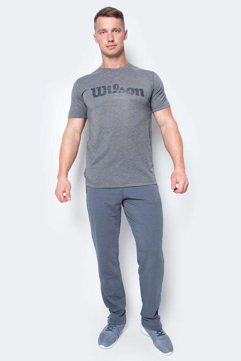 Футболка для тенниса мужская Wilson Uw Tech Tee, цвет: серый. WRA758501. Размер S (46)WRA758501Тренировочная футболка с логотипом Wilson. Спортивный крой и уникальная текстура футболки с технологией отвода влаги nanoWIK для оптимального комфорта. Модель выполнена с круглой горловиной и короткими рукавами.