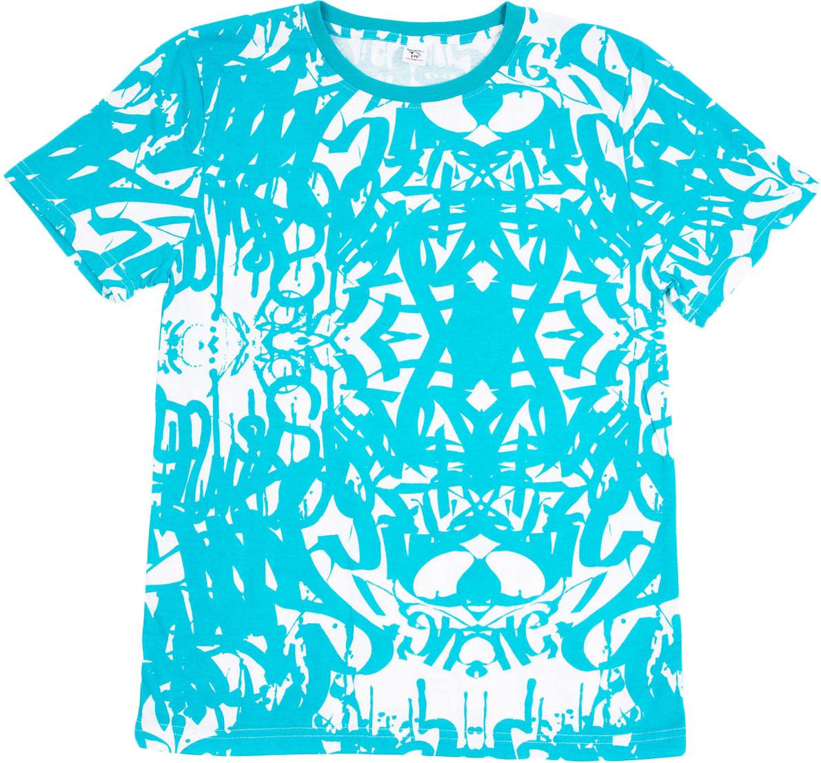 Футболка для мальчика LeadGen, цвет: голубой, белый. B413021801-171. Размер 164B413021801-171Футболка для мальчика LeadGen выполнена из натурального хлопкового трикотажа. Модель с короткими рукавами и круглым вырезом горловины оформлена оригинальным принтом.