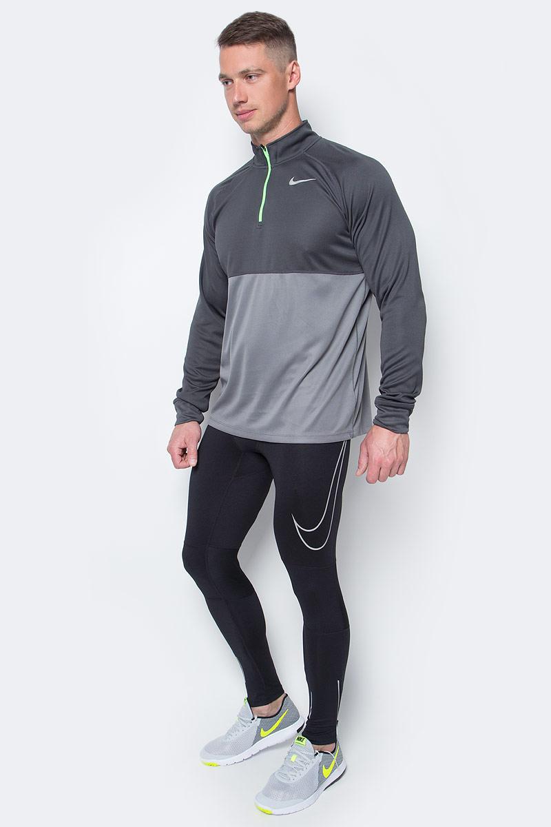 Тайтсы мужские Nike Pwr Flsh Essntl Tght, цвет: черный. 828664-010. Размер M (46/48)828664-010Мужские тайтсы от Nike выполнены из эластичного полиэстера. Благодаря технологии Dri-Fit поддерживается оптимальная температура тела, излишняя влага выводится на поверхность для быстрого испарения. Легкий высокотехнологичный материал обеспечивает сухость и комфорт. Зауженный крой и эластичный пояс со шнурком обеспечат комфорт. Модель сзади имеет карман на застежке-молнии, светоотражающие вставки и плоские швы.