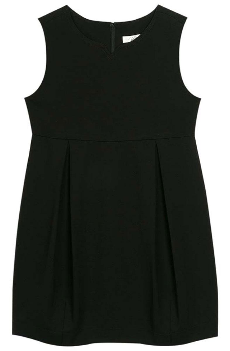 Сарафан для девочек Vitacci, цвет: черный. 2173040-03. Размер 1282173040-03Классическая школьная блузка для девочки