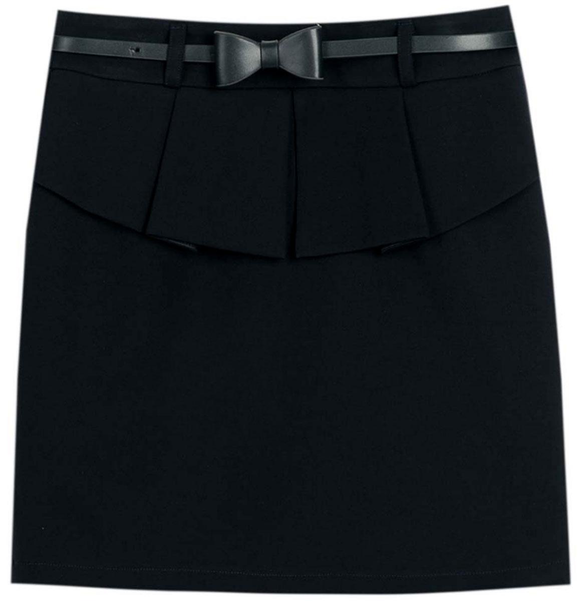 Юбка для девочек Vitacci, цвет: черный. 2173050-03. Размер 1342173050-03Классическая школьная блузка для девочки