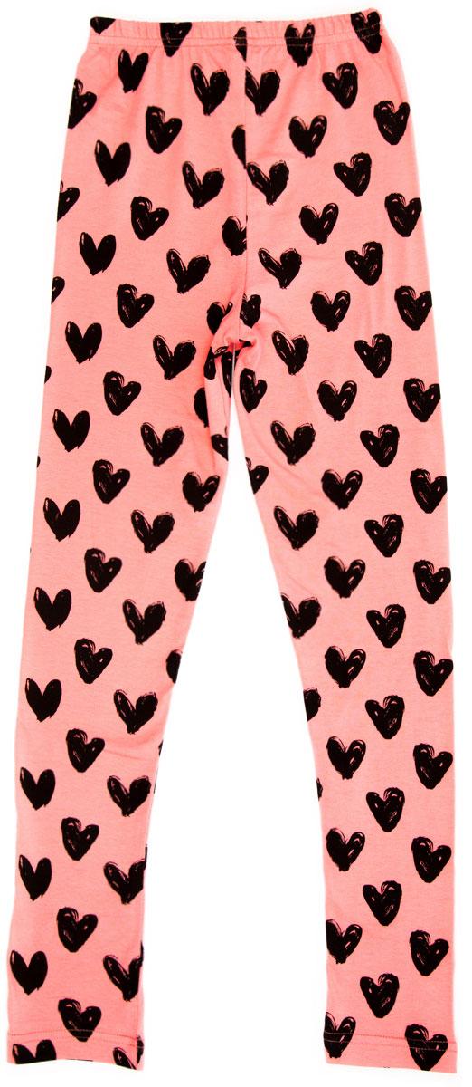 Леггинсы для девочки LeadGen, цвет: розовый. G620051216-171. Размер 140G620051216-171Леггинсы для девочки LeadGen выполнены из хлопкового трикотажа. Модель на талии дополнена эластичной резинкой.