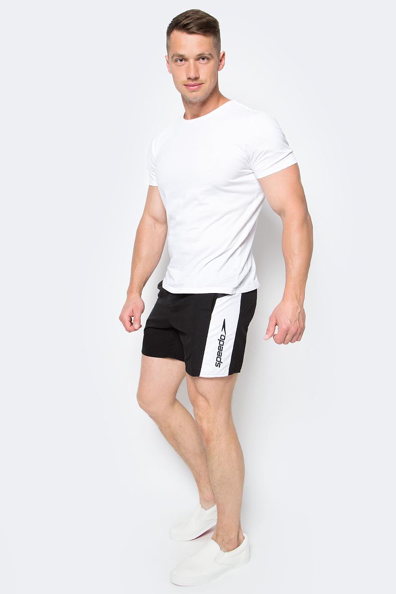 Шорты для плавания мужские Speedo Sport SPL 16 Watershort, цвет: черный. 8-09265B021-B021. Размер XXL (54/56)8-09265B021-B021Мужские шорты для плавания Speedo Sport Splice 16 Watershort изготовлены из быстросохнущего материала. Легкая и прочная ткань со специальной обработкой позволяет шортам быстро высыхать после намокания, не сковывает свободу движений. Материал с бархатистым эффектом имеет приятные тактильные свойства. Сетчатая несъемная вставка в виде трусов-слипов обеспечивает необходимую циркуляцию воздуха. Эластичный пояс с затягивающимся шнурком позволяет отрегулировать посадку точно по фигуре. Спереди расположены два прорезных кармана с системой слива воды, подкладка которых выполнена из сетки. Изделие оформлено контрастными вставками, украшено вышитым название бренда. Такие шорты - идеальный выбор для отдыха, купания и активных игр на пляже. В них вы всегда будете чувствовать себя уверенно и комфортно!