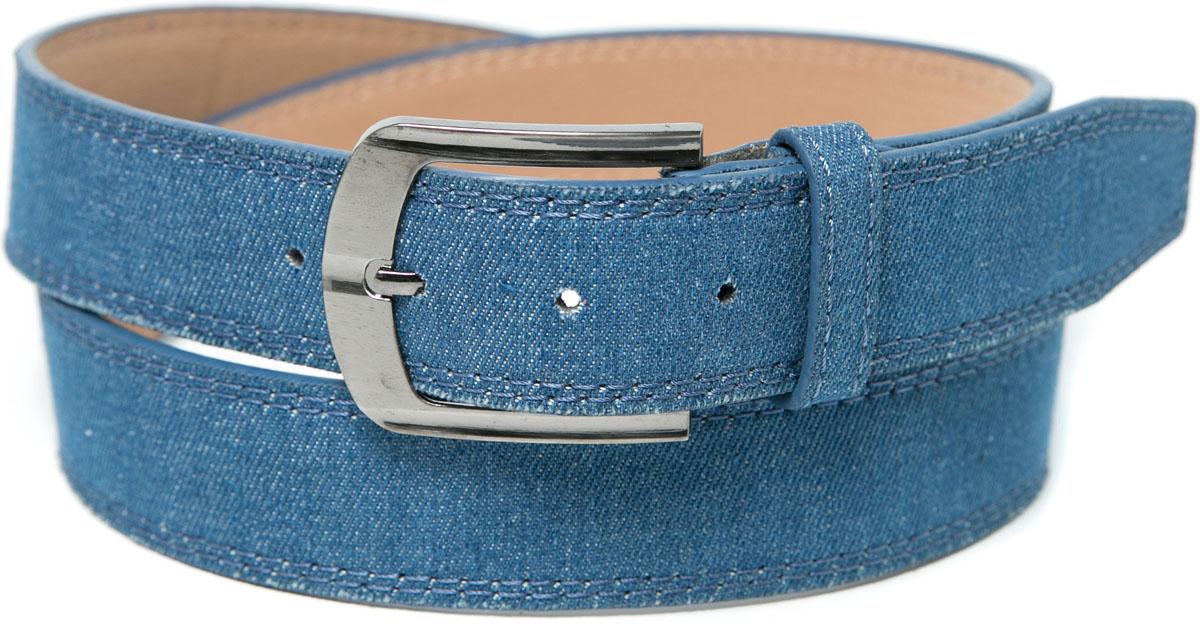 Ремень Mitya Veselkov, цвет: синий. REM12-BLUE. Размер 115REM12-BLUEСтильный, грациозный ремень с отделкой строчками. Длина ремня — 115 см. Длина от последнего отверстия — 10 см. Количество отверстий — 6