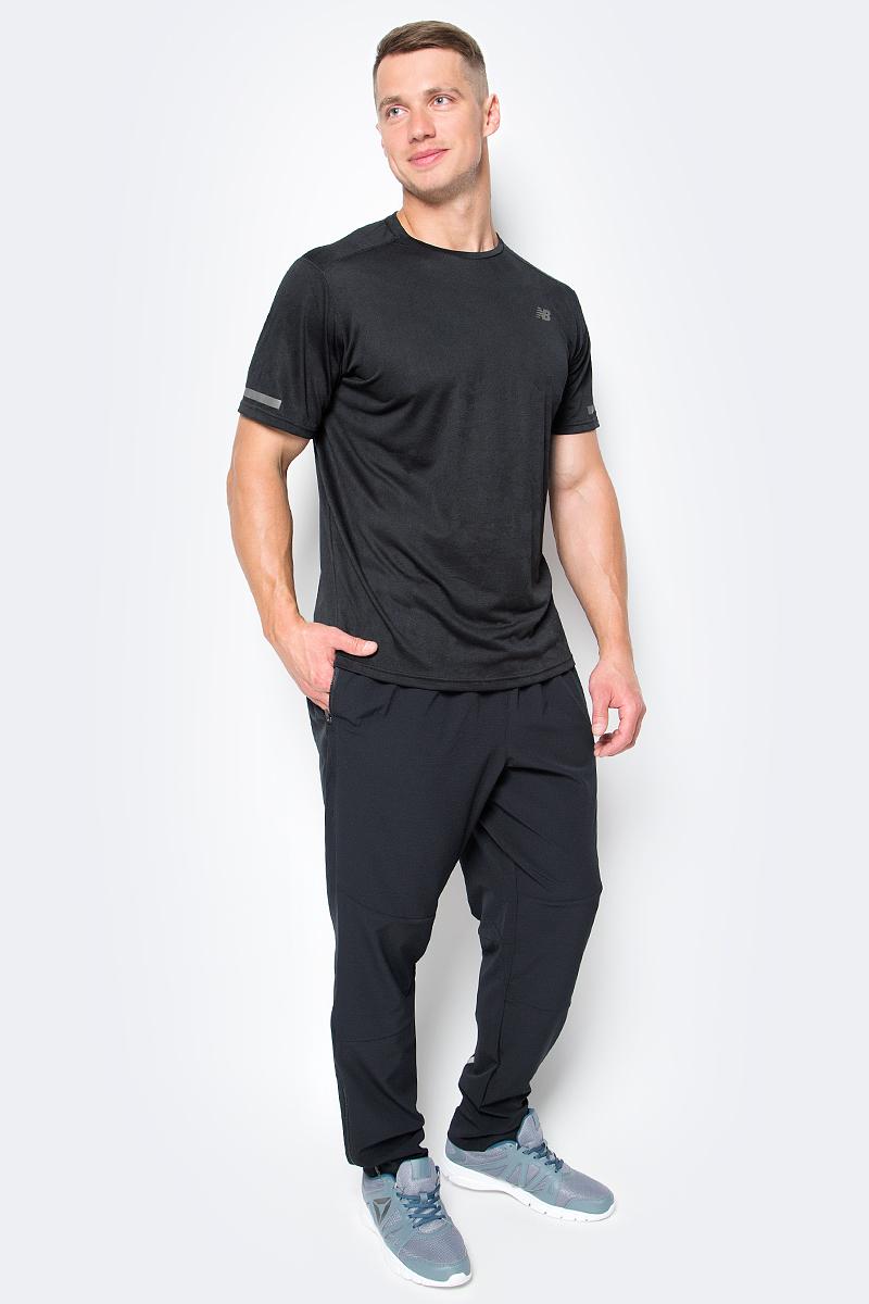 Футболка для фитнеса мужская New Balance Intensity SS, цвет: черный. MT71047/BK. Размер XL (50/52)MT71047/BKФутболка мужская для фитнеса Intensity SS от спортивного бренда New Balance. Модель выполнена из легкой технологичной ткани, которая быстро сохнет и помогает поддерживать оптимальный температурный баланс. Модель оформлена круглым вырезом, короткими рукавами. Имеет светоотражающие накладки.