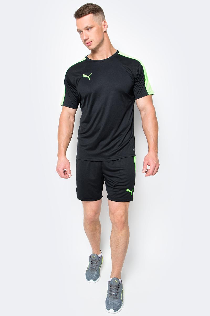 Шорты мужские Puma IT evoTRG Shorts, цвет: черный, зеленый. 65518250. Размер L (48/50)65518250Шорты IT evoTRG Shorts обеспечат максимальный комфорт во время тренировки. Модель выполнена из 100% полиэстера с использованием высокофункциональной технологии dryCELL, которая позволяет телу оставаться в сухости и комфорте в течение всей тренировки, поскольку хорошо впитывает влагу. Шорты декорированы логотипом PUMA, нанесенным методом термопечати на левую штанину, и логотипом evoTRG на правой штанине. Модель также дополнена фирменными лампасами PUMA Formstrip. Пояс из эластичного материала снабжен затягивающимся шнуром. Изделие имеет стандартную посадку.