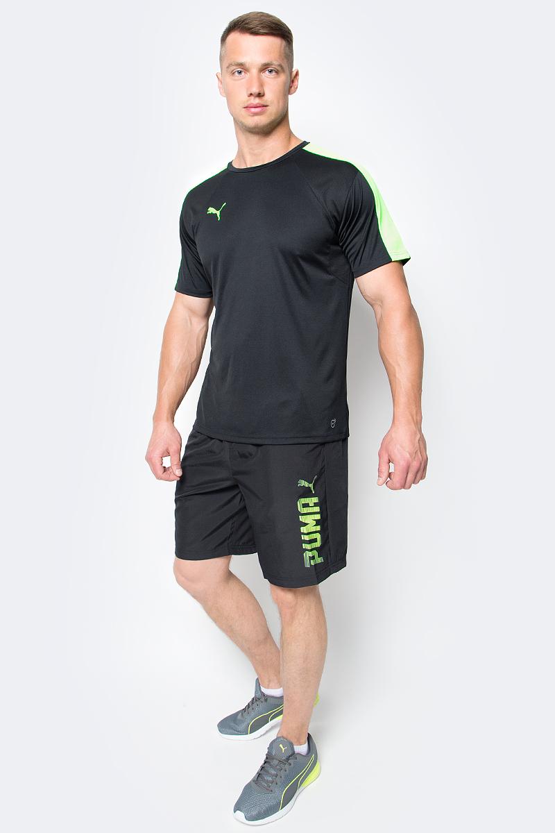 Шорты мужские Puma Rebel Woven Shorts, цвет: черный. 590614_01. Размер M (46/48)590614_01Мужские спортивные шорты Rebel Woven Shorts изготовлены из 100% полиэстера. Эластичный пояс снабжен внутренними завязками для лучшей посадки по фигуре. Изделие имеет стандартную посадку, боковые карманы в швах, классический покрой. Шорты декорированы резиновым логотипом PUMA на левой штанине. Модель не стесняет движений, обеспечивая удобство и комфорт во время занятий.