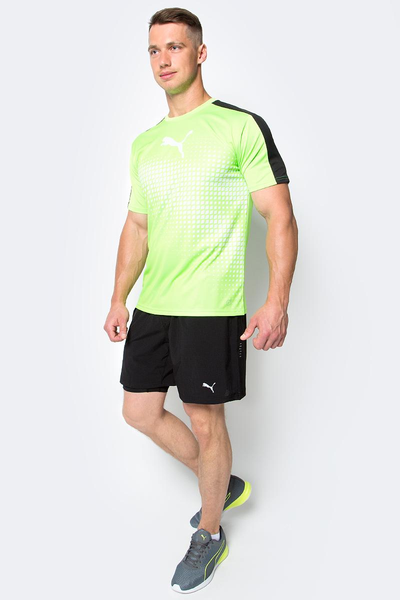 Шорты мужские Puma Pace 2in1 7 Short, цвет: черный. 51495401. Размер L (48/50)51495401Шорты Pace 2in1 7 Short созданы для тренировок и пробежек. Изделие представляет собой шорты 2 в 1: внешние шорты из эластичной, хорошо растягивающейся ткани обеспечивают полную свободу движений, в то время как внутренние шорты выполнены из компрессионного, поддерживающего мышцы материала для улучшения кровообращения. Модель изготовлена из полиэстера с добавлением эластана. Высокотехнологичный материал dryCELL гарантирует оптимальный микроклимат в любых условиях тренировки, так как отводит влагу наружу, поддерживает тело сухим и обеспечивает вентиляцию воздуха в процессе ношения. Ткань изделия обработана уникальной органической пропиткой Cleansport NXT для контроля над неприятным запахом. Шорты имеют вставки из сетчатого материала во избежание перегрева и декорированы логотипом и другими деталями из светоотражающего материала для обеспечения вашей безопасности в темное время суток. Карман сзади снабжен застежкой-молнией и водонепроницаемой подкладкой для надежного хранения ваших вещей. Кроме того, имеется вместительный боковой карман изменяемого объема. Пояс из эластичного материала с кулиской снабжен затягивающимся шнуром для лучшей посадки по фигуре.