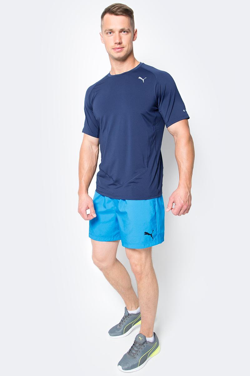 Шорты мужские Puma Ess Woven Shorts 5, цвет: голубой. 838271_33. Размер M (48/50)838271_33Шорты ESS Woven Shorts 5 - отличное сочетание функциональности и комфорта. Эластичная ткань выдерживает серьезные нагрузки, не теряя своих свойств. Модель скроена таким образом, чтобы шорты не вызывали ощущения дискомфорта даже при активных движениях. Среди других особенностей изделия - эластичный пояс с продернутыми в нем затягивающимися шнурами, боковые карманы, а также нашитая сверху задняя кокетка для лучшей посадки по фигуре. Шорты декорированы логотипом PUMA, нанесенным методом глянцевой печати.