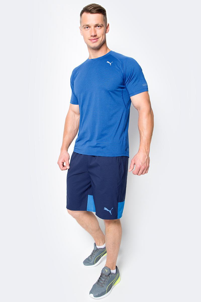 Шорты мужские Puma Style Summer Stretch Shorts, цвет: синий. 59066506. Размер M (46/48)59066506Мужские шорты Style Summer Stretch Shorts созданы для тех, кто ценит комфорт и свободу движений. Эластичная ткань прекрасно тянется и не стесняет движений. В таких шортах удобно тренироваться, гулять или просто заниматься повседневными делами. Эластичный пояс с затягивающимся шнурком гарантирует комфортную посадку. Боковые швы с нахлестом вперед способствуют свободе движений. Модель имеет боковые карманы. Также имеется внутренний карман для мелочи и прорезной карман с обтачками сзади. Шорты декорированы логотипом PUMA на левой штанине. Имеют стандартную посадку.