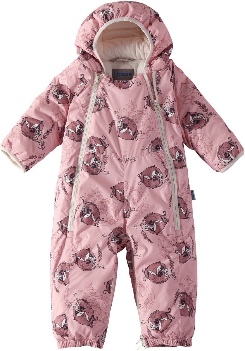 Комбинезон утепленный для девочек Lassie, цвет: розовый. 7107124311. Размер 687107124311100% Полиэстер