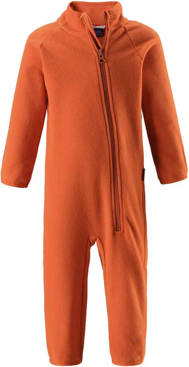 Комбинезон утепленный детский Lassie, цвет: оранжевый. 7167002890. Размер 927167002890Флисовый детский комбинезон Lassie - превосходное дополнение к гардеробу вашего ребенка. Комбинезон изготовлен из теплого дышащего материала, который отводит влагу в верхние слои одежды. Комбинезон застегивается на длинную молнию с защитой подбородка. В таком комбинезоне ребенку будет максимально комфортно и тепло.