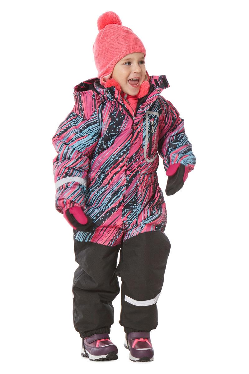 Комбинезон утепленный для девочки Lassie Lassietec, цвет: розовый, голубой, черный. 7207103323. Размер 1107207103323Утепленный комбинезон для девочки Lassie Lassietec - превосходное дополнение к зимнему гардеробу. Комбинезонизготовлен из сверхпрочного, ветронепроницаемого и дышащего материала с верхним водо- игрязеотталкивающим покрытием, он обеспечивает комфорт во время прогулок.Подкладка выполнена из полиэстера. В качестве утеплителя используется синтепон (полиэстер).Комбинезон со съемным капюшоном застегивается на пластиковую молнию с защитой подбородка идополнительно имеет ветрозащитную планку на кнопках. Капюшон, присборенный по бокам на резинки,пристегивается к комбинезону при помощи кнопок и дополнительно застегивается клапаном под подбородком налипучку. На рукавах имеются эластичные манжеты. По линии талии расположена широкая вшитая резинка.Комбинезон снабжен на груди удобным прорезным карманом на молнии. Снизу брючин предусмотрены съемныештрипки, одевающиеся на ступню и не дающие комбинезону ползти вверх.Светоотражающие элементы не оставят вашего ребенка незамеченным в темное время суток. Теплый, удобный и практичный комбинезон станет идеальным выбором для активных детей, которыелюбят играть на свежем воздухе!