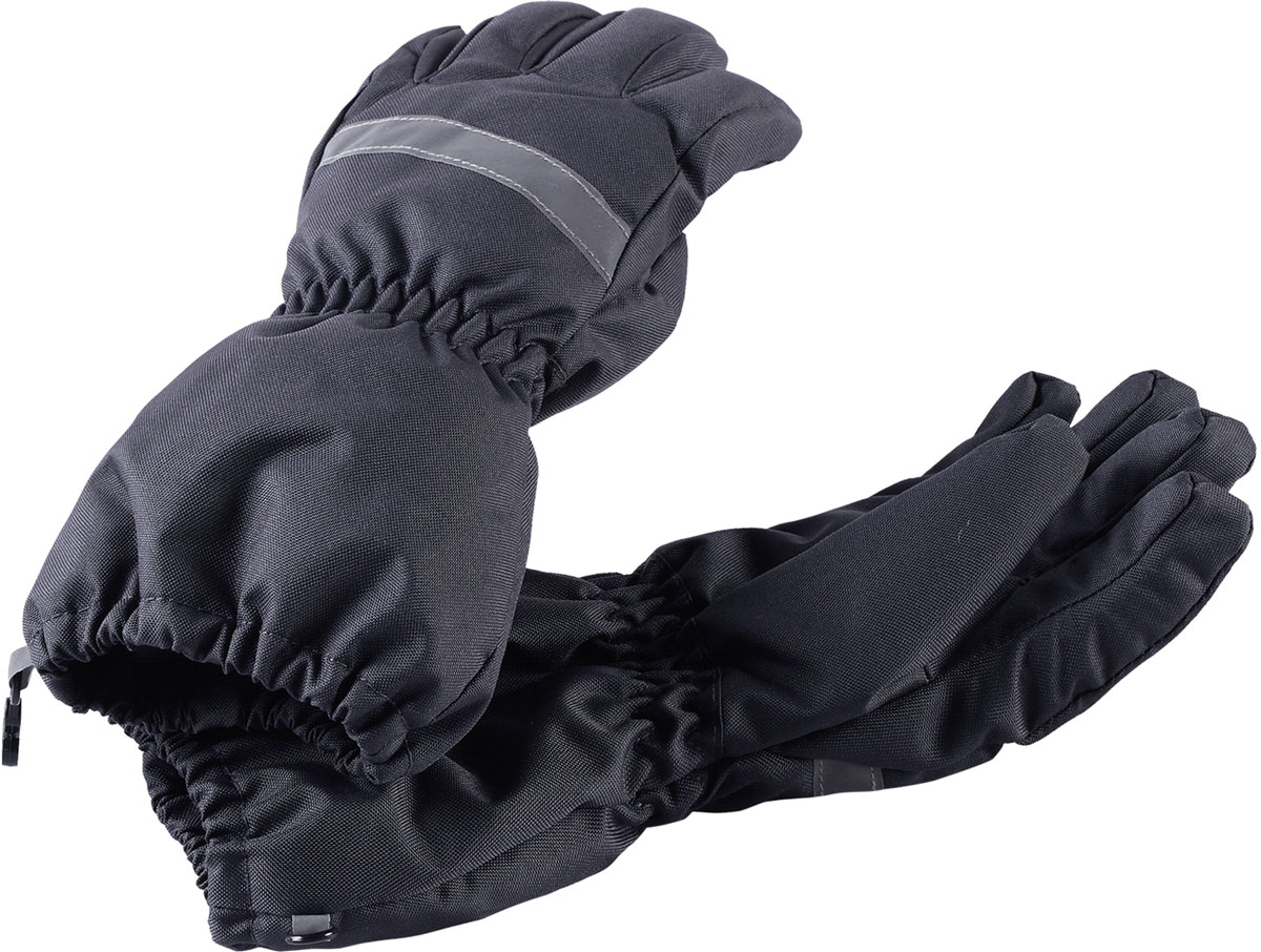 Перчатки детские Lassie, цвет: серый. 7277189680. Размер 67277189680Зимние перчатки Lassie сочетают в себе практичность и комфорт! Отличный выбор для ежедневной носки. Перчатки изготовлены из очень прочного, водо- и ветронепроницаемого дышащего материала и снабжены водонепроницаемой мембраной, которая обеспечит вашему ребенку долгие и сухие прогулки на свежем воздухе. Усиления на ладони и большом пальце не пропускают влагу и обеспечивают хороший захват. Трикотажная подкладка из полиэстера с начесом очень мягкая и приятная на ощупь. Эластичная резинка на запястье обеспечивает удобную посадку перчаток на руке. Сверху изделие дополнено светоотражающей вставкой.