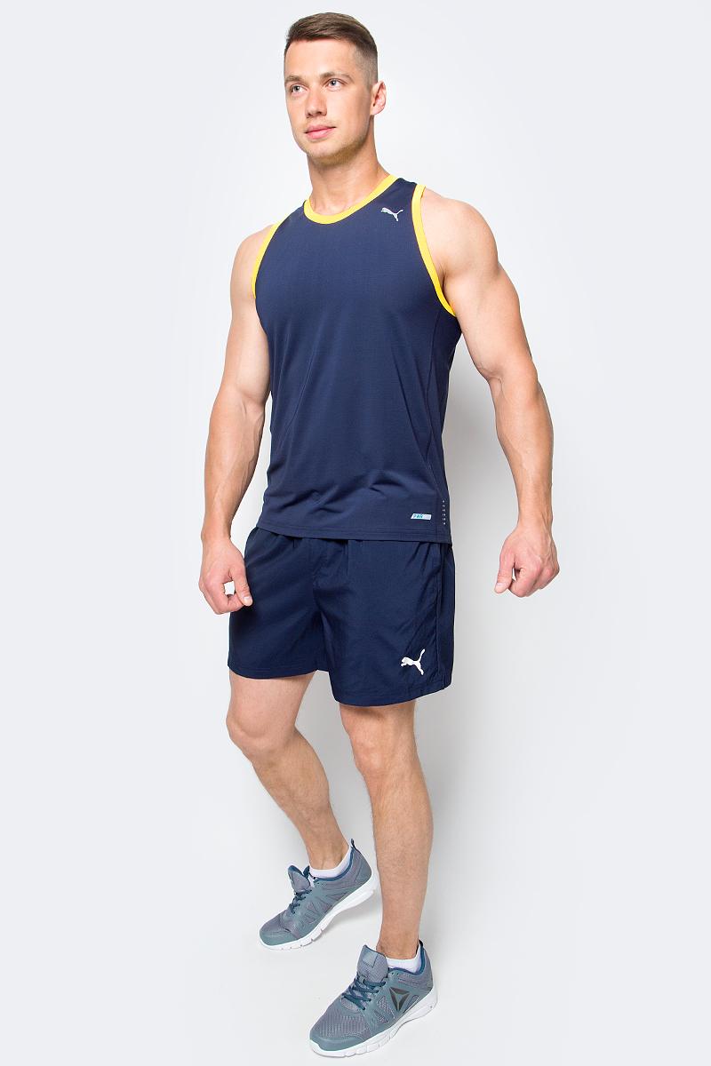 Шорты мужские Puma Ess Woven Shorts 5, цвет: синий. 838271_06. Размер M (48/50)838271_06Шорты ESS Woven Shorts 5 - отличное сочетание функциональности и комфорта. Эластичная ткань выдерживает серьезные нагрузки, не теряя своих свойств. Модель скроена таким образом, чтобы шорты не вызывали ощущения дискомфорта даже при активных движениях. Среди других особенностей изделия - эластичный пояс с продернутыми в нем затягивающимися шнурами, боковые карманы, а также нашитая сверху задняя кокетка для лучшей посадки по фигуре. Шорты декорированы логотипом PUMA, нанесенным методом глянцевой печати.