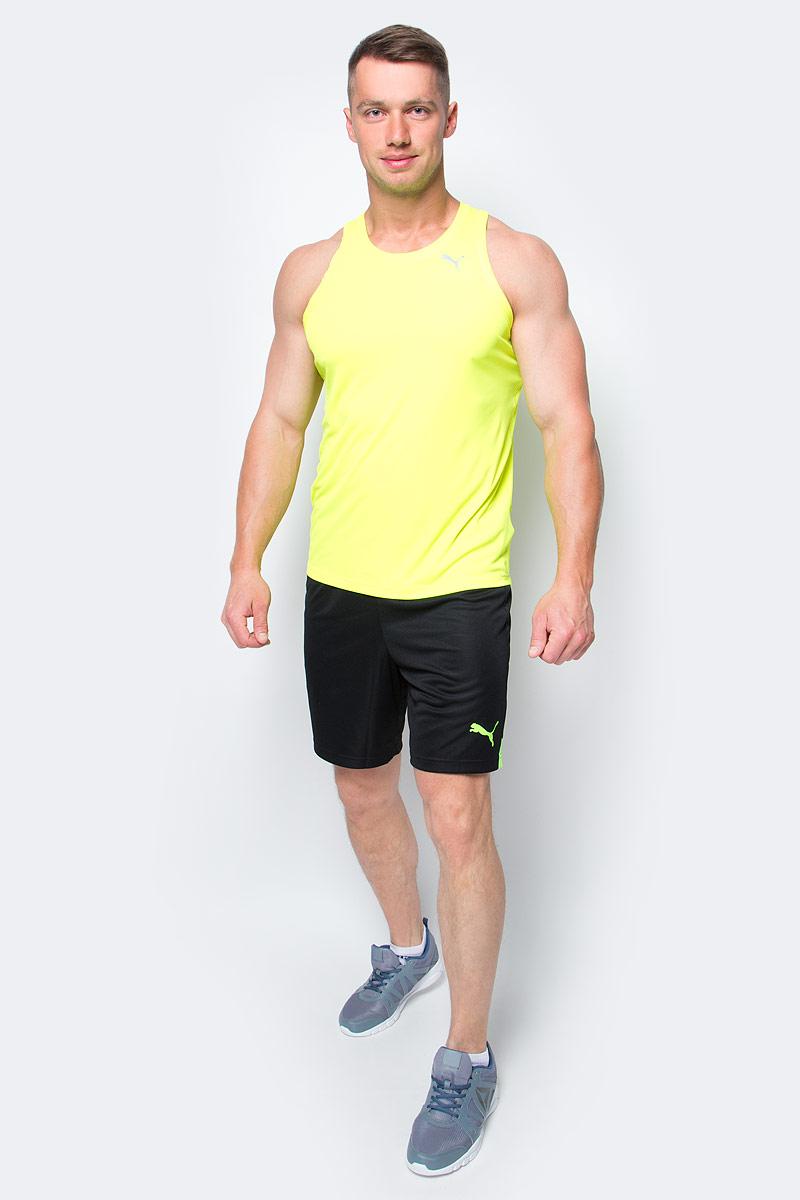 Майка мужская Puma Core-Run Singlet, цвет: желтый. 51500705. Размер M (46/48)51500705Спортивная майка без рукавов Core-Run Singlet изготовлена из полиэстера с использованием высокофункциональной технологии dryCELL, которая отводит влагу, поддерживает тело сухим и гарантирует комфорт во время активных тренировок и занятий спортом. Легкий супердышащий материал изделия прекрасно держит форму и обеспечивает полный комфорт. Логотип и другие декоративные элементы, в том числе тесьма с внутренней стороны ворота выполнены из светоотражающего материала для безопасности в темное время суток. Плоские швы не натирают кожу и обеспечивают непревзойденный комфорт.