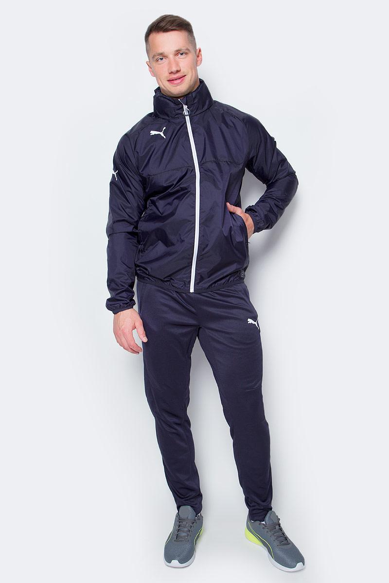 Ветровка мужская Puma Rain Jacket, цвет: темно-синий. 653968061. Размер S (44/46)653968061Мужская ветровка Rain Jacket от Puma выполнена из высококачественного нейлона. Модель с длинными рукавами и воротником-стойка застегивается на застежку-молнию. По бокам расположены прорезные карманы.