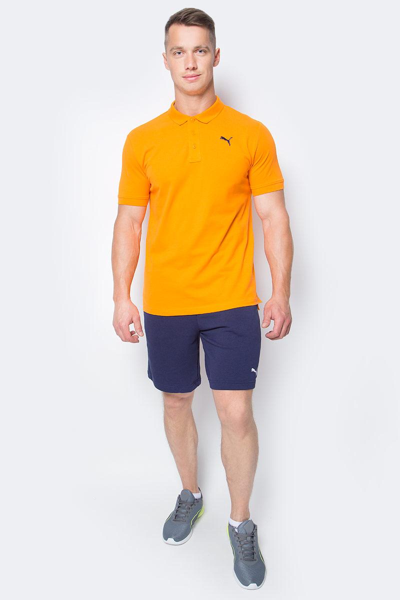 Шорты мужские Puma Ess Sweat Shorts 9, цвет: синий. 838260_06. Размер M (48/50)838260_06Шорты ESS Sweat Shorts 9, выполненные из хлопка и полиэстера, прекрасно подойдут для ежедневного использования, а также для тренировок. Шорты декорированы вышитым логотипом PUMA. Среди других отличительных особенностей изделия - пояс из его основного материала с продернутым затягивающимся шнуром, карманы в швах, а также нашитая сверху задняя кокетка для лучшей посадки по фигуре.