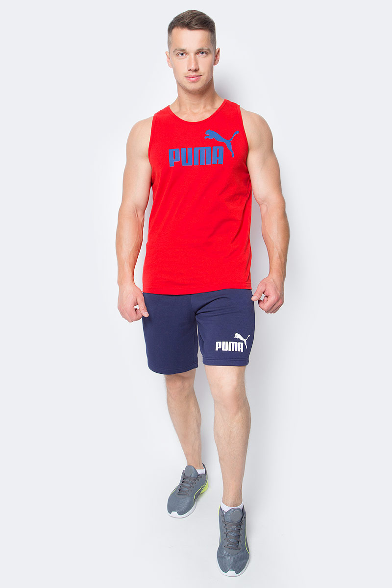 Шорты мужские Puma Ess No.1 Sweat Shorts 9, цвет: синий. 83826106. Размер XS (44/46)83826106Шорты ESS No.1 Sweat Shorts 9, выполненные из хлопка и полиэстера, прекрасно подойдут для ваших тренировок. Шорты декорированы прорезиненным логотипом PUMA. Среди других отличительных особенностей изделия - пояс из его основного материала с продернутым затягивающимся шнуром, карманы в швах, а также нашитая сверху задняя кокетка для лучшей посадки по фигуре.
