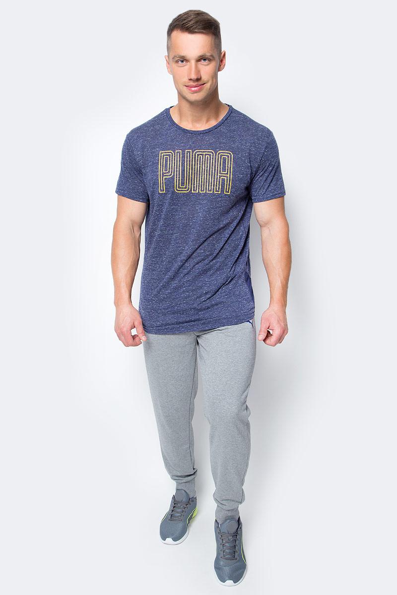 Брюки спортивные мужские Puma Hero Pants TR cl, цвет: серый. 83832132. Размер S (44/46)83832132Мужские спортивные брюки Hero Pants TR cl изготовлены из полиэстера и хлопка с использованием высокофункциональной технологии dryCELL, которая отводит влагу, поддерживает тело сухим и гарантирует максимальный комфорт. Модель имеет эластичный пояс с затягивающимся шнуром для регулировки посадки. Среди других отличительных особенностей изделия - карманы в боковых швах, нашитая сверху задняя кокетка для лучшей посадки по фигуре, широкие манжеты по низу брюк, а также фирменные лампасы по всей длине брючин. Брюки декорированы графическим принтом со светоотражающими элементами.