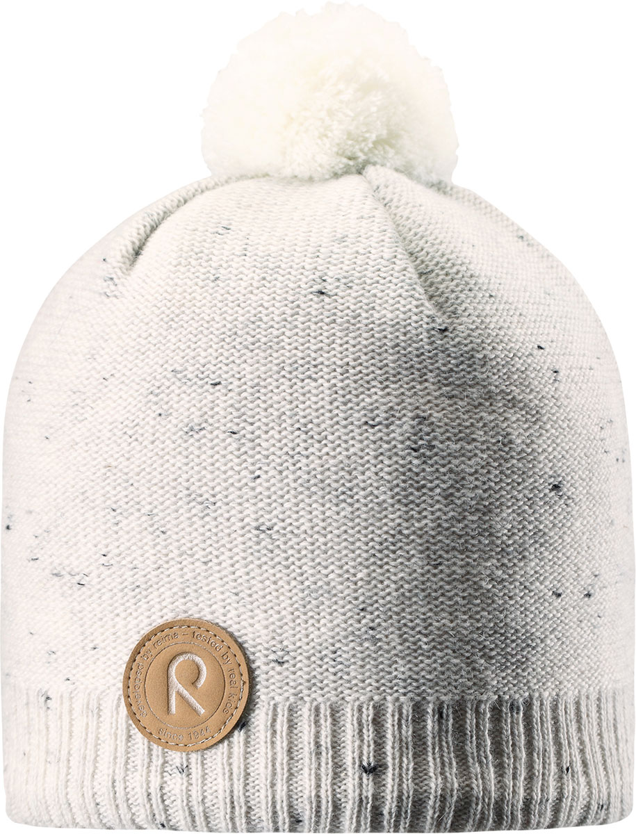 Шапка-бини детская Reima Kajaani, цвет: белый. 5285630100. Размер 545285630100Детская шапка из теплого шерстяного трикотажа. Материал превосходно регулирует температуру и хорошо согревает голову. Ветронепроницаемые вставки и подкладка из мягкого флиса. Декоративная структурная вязка.